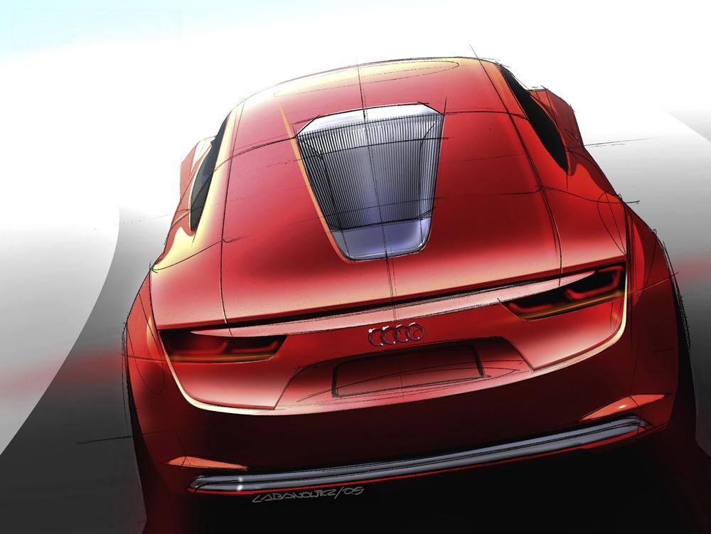 Der Audi e-tron als Studie