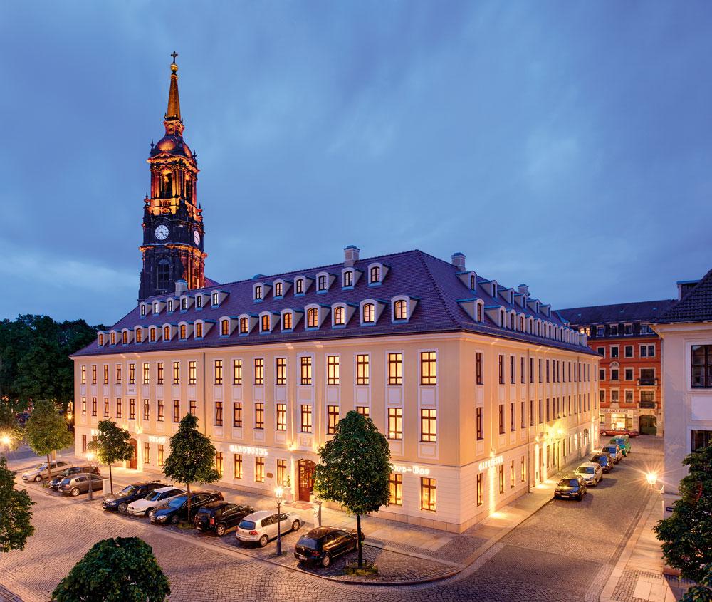 Außenansicht des Bülow Palais. Foto: Bülow Palais & Residenz Dresden