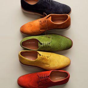 """""""Midnight, Orange, Green, Yellow & Red"""", so die Farben bei Tommy Hilfigher Herrenschuhe im Sommer 2011"""