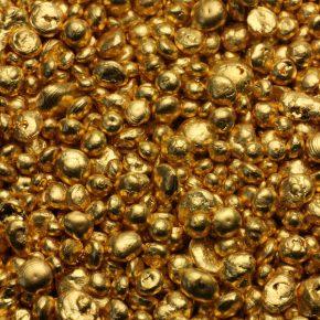Goldgranulat. Foto: ESG
