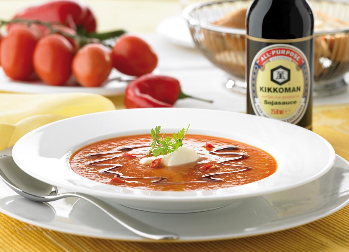 Rezept für spanische Paprika-Tomatensuppe 1