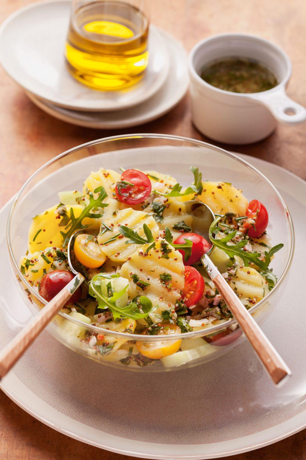 Kartoffelsalat mit Kräuter-Senfmarinade