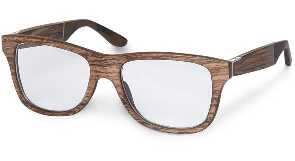 Brillengestell aus Holz.