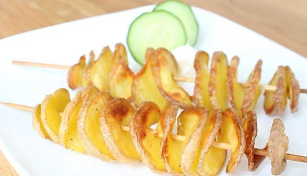 Rezepte: Kartoffelsushi und Tornados aus Kartoffeln 7
