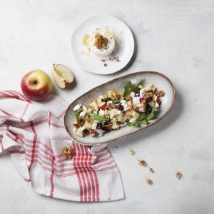 Rezept: Kohlrabi-Apfel-Salat mit Ziegenkäse und Cranberries 4